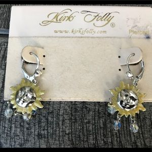 Kirks Folly Dangle Sun Earrings New on card